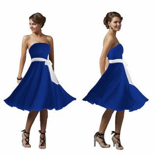 Sexy Strapless formal Bridesmaid Cocktail Party Dress
