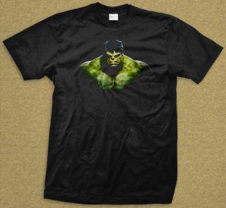Incredible Hulk The Avengers Iron Man Loki Thor Black T Shirt Size M