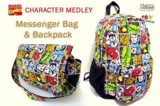 Marvel Comics Messenger Shoulder Book Bag   Backpack   DJ Laptop Tote