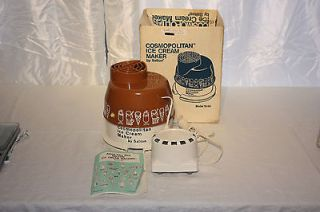 Vintage NOS Cosmopolitan Ice Cream Maker by Salton