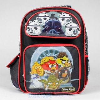 Angry Birds Star Wars Backpack Boys 16 Large School Bag Space Yoda