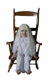 GHOST EXORCIST GIRL ANIMATED HALLOWEEN HAUNTED HOUSE PROP SEE VIDEO