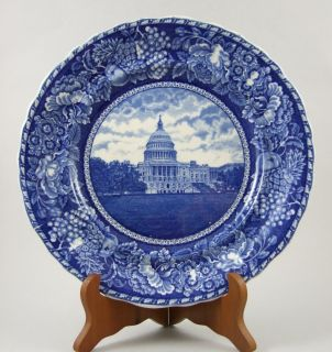 CAPITOL   HISTORICAL Staffordshire FLOW BLUE Plate   Rowland