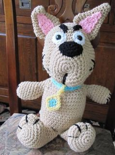 Handmade Crochet Scrappy Doo Stuffed Animal Toy