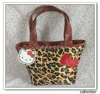 Lovely Kitty Leopard Print Style Womens Girls Tote Lunch Picnic Bags