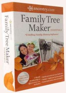 Ancestry Family Tree Maker Essentials 2012rand New & Free Gift
