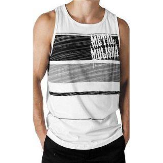 MSR Metal Mulisha Banded Tank Top Mens Shirt White/Black/Gr ay