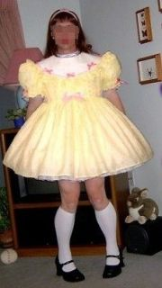 Adult Sissy Baby Dress  Lemon Pie  by Annemarie