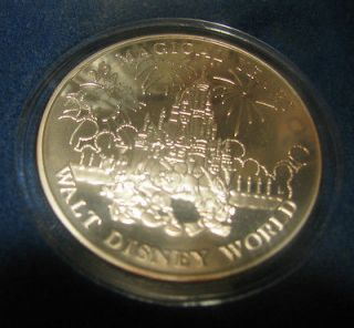 Disney World 25th Anniversary 1 Troy oz .999 Silver Coin Limited 5000