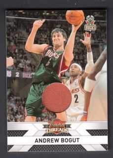 Andrew Bogut 2010 11 Panini Threads Jerseys Game Worn Jersey Card #39