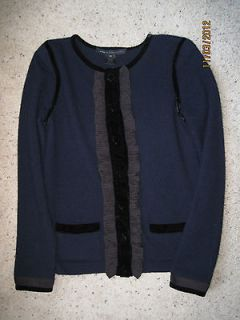 Marc by Marc Jacobs 100% Cashmere Sweater Cardigan Jacket Navy Size XS