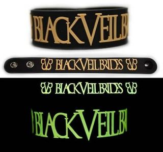 BLACK VEIL BRIDES Rubber Bracelet Wristband Wretched and Divine Glow
