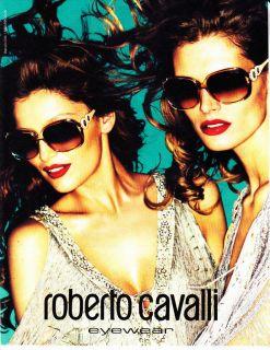 2011 ROBERTO CAVALLI EYEWEAR Magazine Print Ad