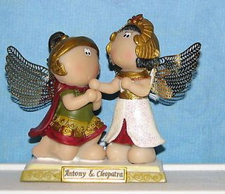 Russ Berrie Guardian Angel Cheeks Figurine Anthony & Cleopatra figure