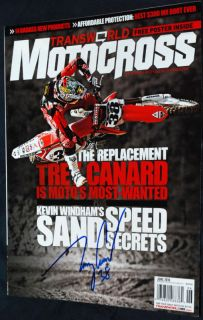 TREY CANARD Signed TW MOTOCROSS Magazine 6/10   SX MX