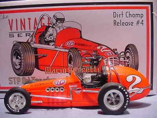 MARIO ANDRETTI STP MOTOR OIL VINTAGE DIRT CHAMP CAR GMP USAC OFFY 118