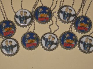 wild kratts inspired party favors lot of 10 bottle cap ball chain