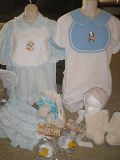 Adult COUPLES BABY Costumes GIRL M & BOY L Twins 13pc TWO FULL OUTFITS