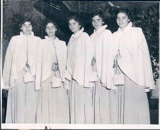 1950 Canadas Famous Dionne Quintuplets At Waldorf Astoria Hotel NYC