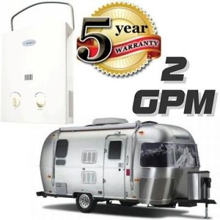Tankless Hot Water Heater RV / Camper Portable Propane Gas 2 GPM Marey