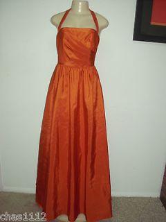 BRIDESMAID DRESS BY ALFRED ANGELO STYLE 7185 TAFFETA BURNT ORANGE SIZE