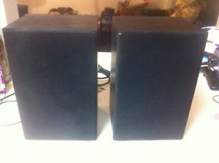 Vintage Bose Book Shelf Model 21 Audio Stereo Speakers & Owners Guide