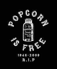 Popcorn is Free Pocket T Shirt with BACK PRINT, Popcorn Sutton