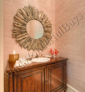 Hammered Metal Sunburst WALL MIRROR Gold Oversized Contemporary NEW