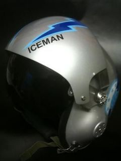 TOP GUN TOM ICEMAN KAZANSKI FLIGHT HELMET MOVIE PROP FIGHTER PILOT