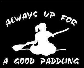 GIRL DECAL STICKER FOR RACK OCEAN KAYAK RIVER PADDLING