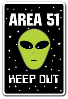 AREA 51 Alien Sign parking space aliens roswell gift spacemen ET UFO