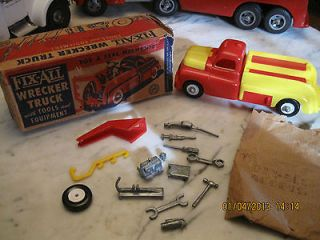 Vintage Marx Fix All Toy Wrecker Truck With Tools & Equipment New Old