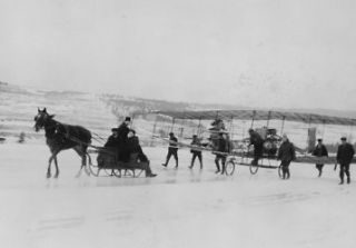 antique horse drawn sleigh
