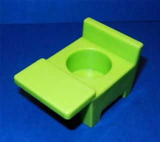 Vintage Fisher Price Little People School House Green Desk Chair