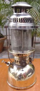 ANTIQUE KEROSENE LANTERN OIL LAMP BRASS PETROMAX 826 Regd. Germany