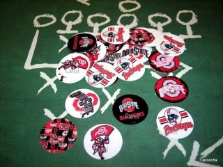 50 Precut Ohio State Buckeyes Bottle Cap Images