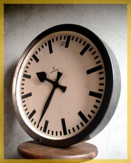 Old TRAIN STATION factory industrial Clock bauhaus n4