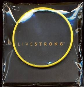 Genuine LiveSTRONG Wrist Band Lance Armstrong YELLOW