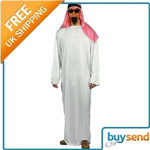 Mens Arab Arabian Sheikh Fancy Dress Costume Medium
