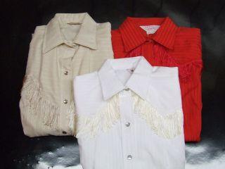Ladies Western Fringe Show Shirt California Ranchwear HbarC Vintage