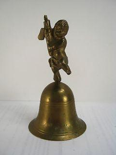 Vintage Brass Bell Cherub/Angel Handle 5
