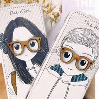 Apple iPhone 5 Unique Cell Phone PU Leather Case Cover (Glasses)