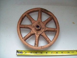Old VTG Toy Doll Cariage Push Toy Wagon Wheel Wood Spokes Iron Rim