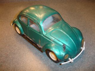 Vtg Antique Collectible Blue Plastic? & Pressed Steel TONKA Toy Car