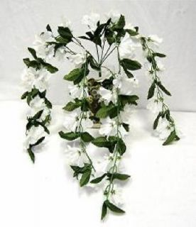CREAM IVORY Silk Flowers Bush Plant 26 Artificial Arrangement