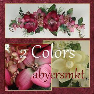 Magnolia Hydrangea Dogwood Silk Floral Swag Flowers 28