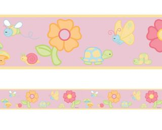 APRIL SHOWERS CUTE PINK GIRLS DISCONTINUED WALLPAPER BORDER 51567