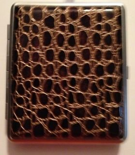 NEW WISH YOU LUCKY BROWN CIGARETTE HARD CASE HOLDER SMOKER GIFT