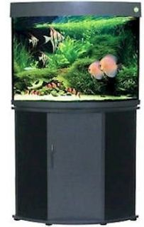 Compass Rose 36 Gallon Corner Fish Tank   Black w/ Aquarium Kit