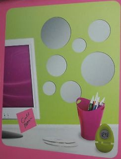WALL DECAL STICK AND PEEL TEEN KIDS ROOM ART SIGN PLAQUE SOLID CIRCLES